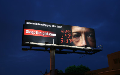 Sleep Tonight Billboard, Santa Monica Blvd, Los Angeles CA