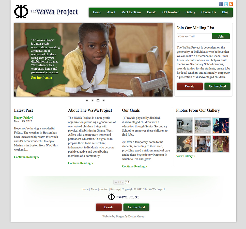 The WaWa Project Website Design
